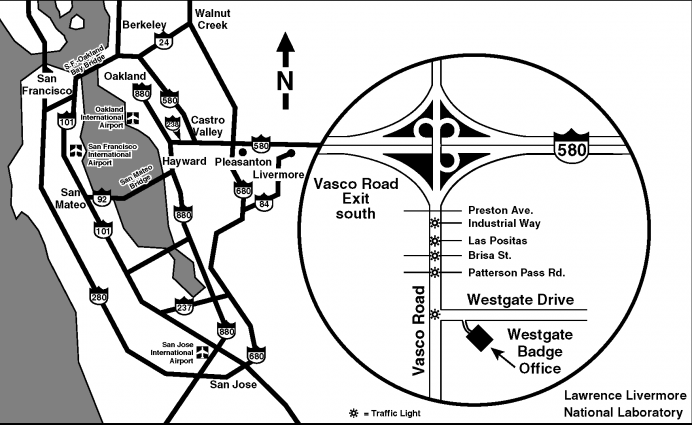 map llnl west gate badge office