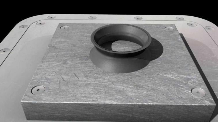 3D printing a curved metal rocket motor throat